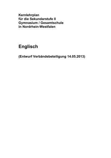 Kernlehrplan Englisch - Standardsicherung NRW