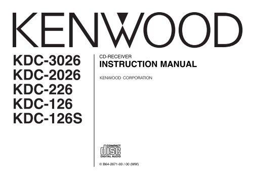 Receivers • kdc-u31r specifications • kenwood europe.