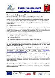 Ideenaufruf QF2 für 2013 üph - Quartiersmanagement Gropiusstadt