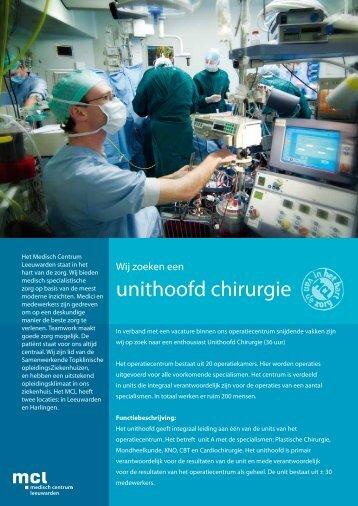 unithoofd chirurgie - NVLO