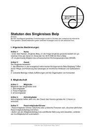 Statuten des Singkreis - Singkreis Belp