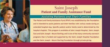 PFAF card.indd - Saint Joseph Hospital