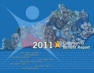Community Benefit Report 2011 - Saint Joseph Hospital
