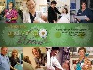 Nursing Annual Report - Fiscal Year 2009 - Saint Joseph Hospital