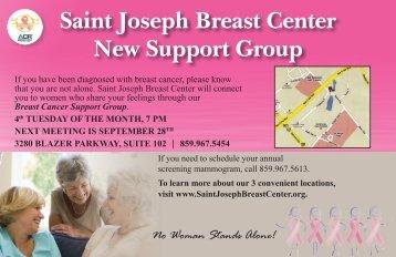 BC, SupportGroup_postcard.indd - Saint Joseph Hospital