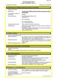 Sicherheitsdatenblatt Farbkomponente - Kiesel - Kiesel Bauchemie ...