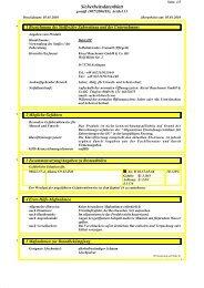 Sicherheitsdatenblatt - Kiesel - Kiesel Bauchemie GmbH & Co.KG