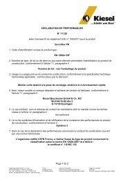 Déclaration de performance (DDP) - Kiesel - Kiesel Bauchemie ...