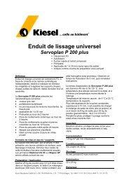 Enduit de lissage universel Servoplan P 200 plus - Kiesel - Kiesel ...