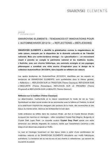 swarovski elements : tendances et innovations pour l'automne/hiver ...