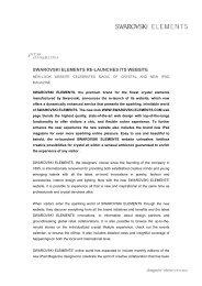 SWAROVSKI ELEMENTS RE-LAUNCHES ITS WEBSITE