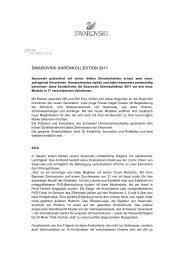 SWAROVSKI UHRENKOLLEKTION 2011