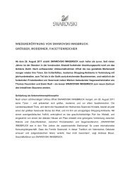wiedereröffnung von swarovski innsbruck: grösser, moderner ...