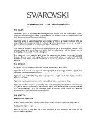 SPRING SUMMER 2012 THE BELIEF - Swarovski