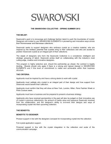 SPRING SUMMER 2012 THE BELIEF - Swarovski