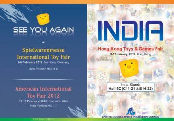 HK Toy Fair catalogue - Sports Goods Export Promotion Council