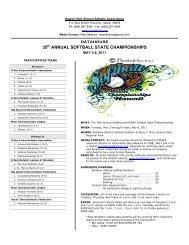 35th ANNUAL SOFTBALL STATE CHAMPIONSHIPS - SportsHigh.com