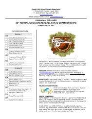 35th ANNUAL GIRLS BASKETBALL STATE ... - SportsHigh.com