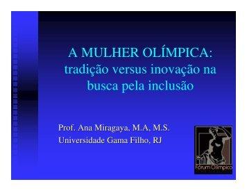 A Mulher Olímpica: tradição versus inovação na ... - Sports In Brazil