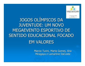 Jogos Olímpicos da Juventude - Sports In Brazil