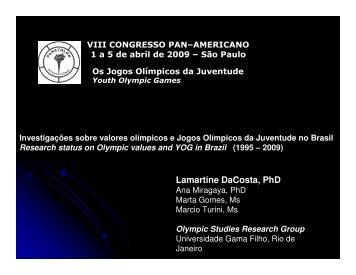 Investigações sobre valores olímpicos e Jogos ... - Sports In Brazil