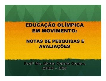 Educação Olímpica em Movimento - Sports In Brazil