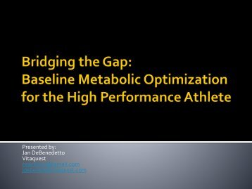 Bridging the Gap - International Society Of Sports Nutrition