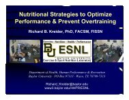 Nutritional Strategies to Optimize Performance & Prevent Overtraining