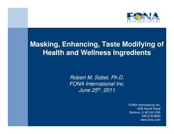 masking - International Society Of Sports Nutrition