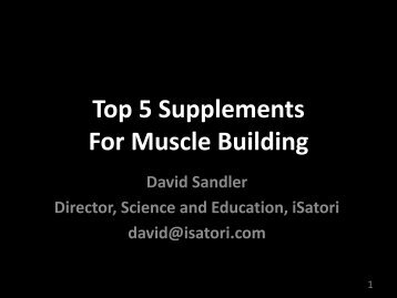 Top 5 Supplements - International Society Of Sports Nutrition