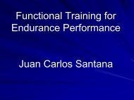 Functional Training for Endurance Performance Juan Carlos Santana