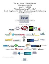 """""""Sports Nutrition Strategies to Optimize - International Society Of ..."""