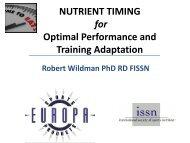 Nutrient Timing - International Society Of Sports Nutrition