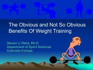 The Obvious and Not So Obvious Benefits Of Weight Training