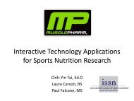 Interactive Technology Applications for Sports Nutrition Research