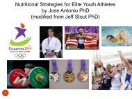 modified from Jeff Stout PhD - International Society Of Sports Nutrition