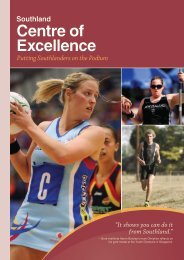 Centre of Excellence - Sport Southland