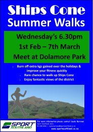 Wednesday's 6.30pm 1st Feb – 7th March Meet at ... - Sport Southland