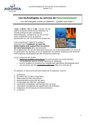 Les technologies au service de l'environnement - Agoria