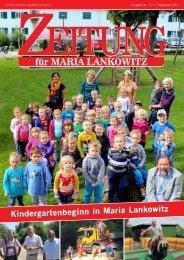 Ausgabe 137 - Kindergartenbeginn in Maria Lankowitz