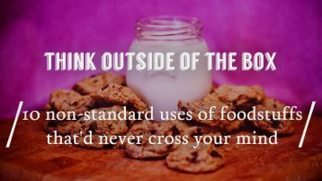 Best ways to use food for something else than eating