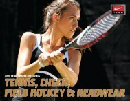 TENNIS, CHEER, FIELD HOCKEY & HEADWEAR