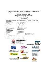 3. OMV-Sternstein-Volkslanglauf - Union Bad Leonfelden