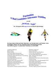 13.Jedermann-Triathlon - Union Bad Leonfelden