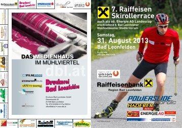 7. Raiffeisen Skirollerrace 31. August 2013 - Union Bad Leonfelden