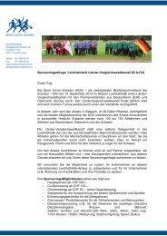 Sponsoringanfrage: Leichtathletik Länder-Vergleichswettkampf (D-A ...