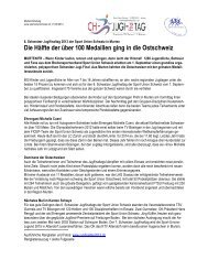 Medientext mit Ranglistenauszug (pdf) - Sport Union Schweiz