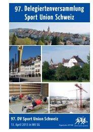 DV-Unterlagen 2013 mit Jahresbericht 2012 - Sport Union Schweiz