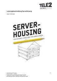 Leistungsbeschreibung Serverhousing