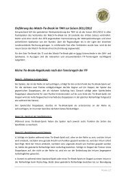Einführung des Match-Tie-Break im TMV zur ... - sportverbund.de